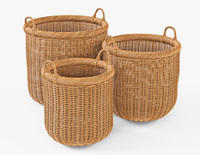 Wicker Basket 07 Toasted Oat Color 3D Model