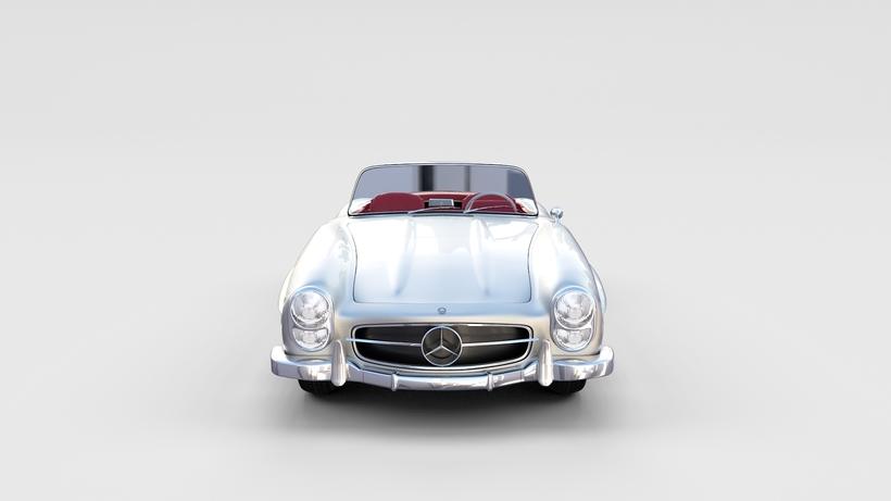 Fully Modelled Mercedes 300SL Roadster rev 3D Model