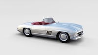 Fully Modelled Mercedes 300SL Roadster rev 3D Model