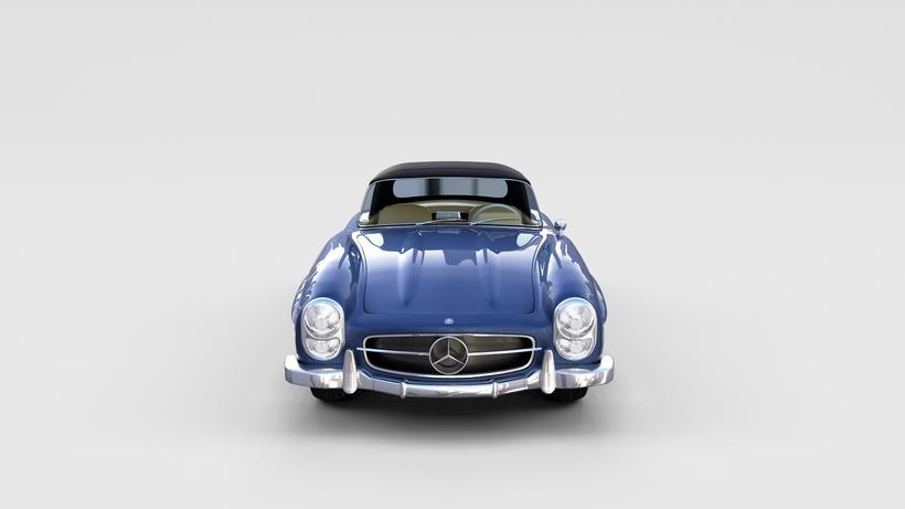 Mercedes 300SL Roaster Top rev 3D Model