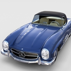 Mercedes 300SL Roaster Top rev 3D Model