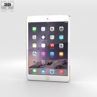 Apple iPad Mini 3 Cellular Gold 3D Model