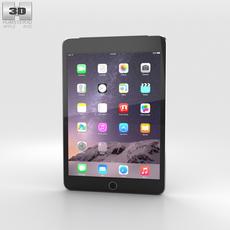Apple iPad Mini 3 Cellular Space Grey 3D Model