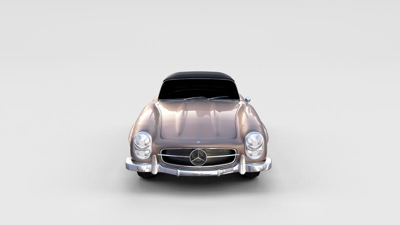 Mercedes 300SL Roadster Top Up rev 3D Model