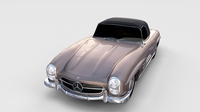 Mercedes 300SL Roadster Top Up rev 3D Model
