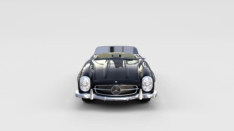 Mercedes 300SL Roadster W198 rev 3D Model