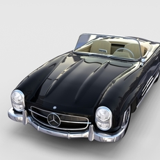 Mercedes 300SL Roadster W198 rev 3D Model