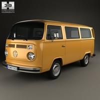 Volkswagen Transporter (T2) Passenger Van 1972 3D Model