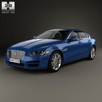 Jaguar XE 2015 3D Model