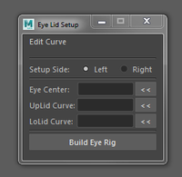 Cartoon eyelid auto rigger for Maya 1.1.0 (maya script)
