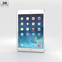 Apple iPad Mini 2 Cellular Silver 3D Model