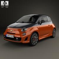 Fiat 500 Abarth 595 Turismo 2014 3D Model