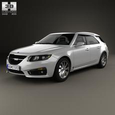 Saab 9-5 Sport Combi 2009 3D Model