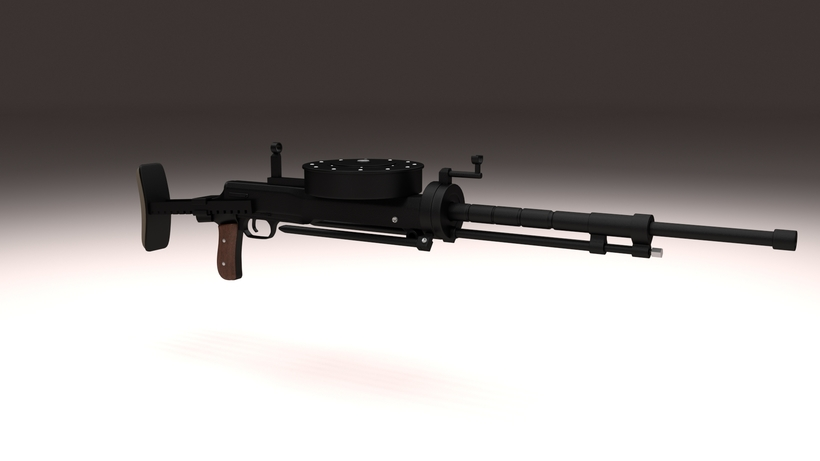 WW2 Machine Gun Pack 3D Model