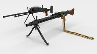 WW2 Machine Gun Pack 3D Model