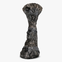 Detailed rock pillar 3D Model