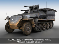 SD.KFZ 251/7 Ausf.C - Pioneer Assault bridge 3D Model