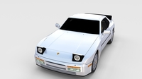 Porsche 944 S2 rev 3D Model
