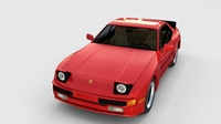 Porsche 944 with interior rev 3D Model