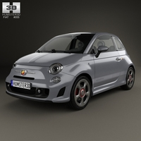 Fiat 500 Abarth 595 Competizione 2012 3D Model