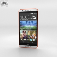 HTC Desire 820 Tangerine White 3D Model