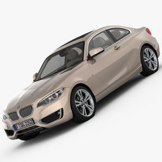 BMW 2 Series F22 Modern Line 2015 3D Model