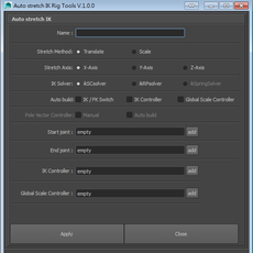 ak Auto Stretch IK Tools for Maya 1.0.0 (maya script)