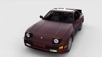 Porsche 944S w interior rev 3D Model