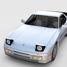 Porsche 944 S2 with interior 3D Model