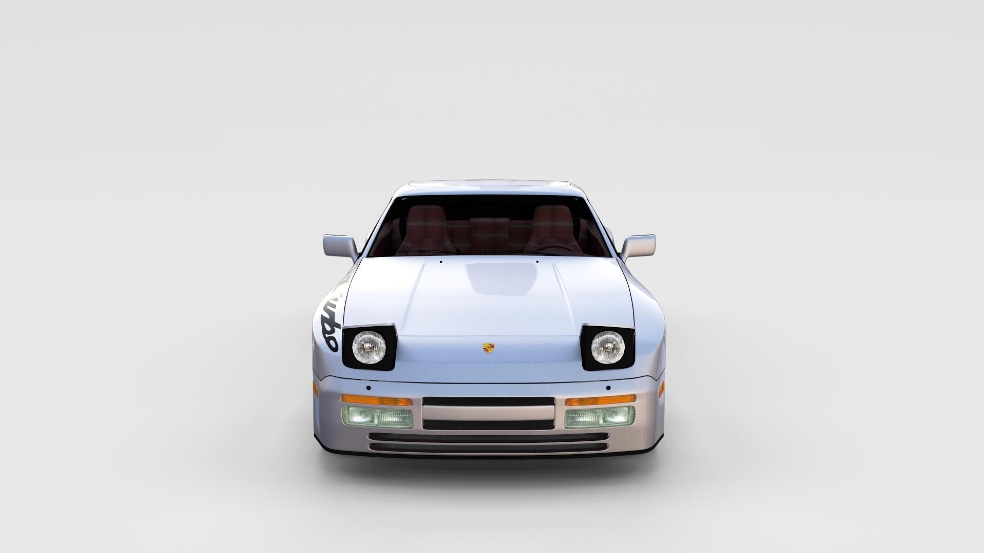 Porsche 944 Turbo S With Interior Rev 3d Model