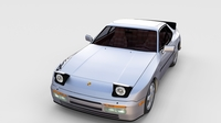 Porsche 944 Turbo S with interior rev 3D Model
