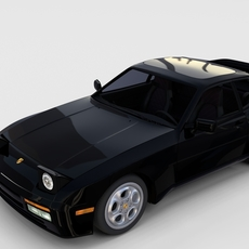 Porsche 944 turbo with interior rev 3D Model