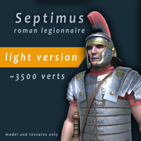 Septimus roman legionnaire low poly game character 3D Model