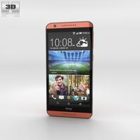 HTC Desire 820  Monarch Orange 3D Model