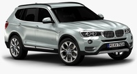 2015 BMW X3 (Low Interior) 3D Model
