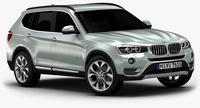 2015 BMW X3 (Low Interior) 3D Model