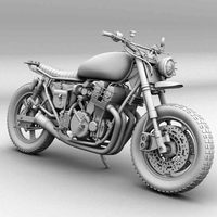the walking dead daryl dixon bike 3D Model