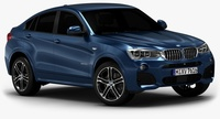 2015 BMW X4 (Low Interior) 3D Model