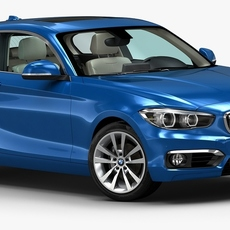 2016 BMW 1 Series 3-door 3D Model