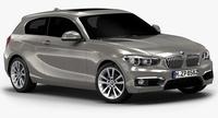 2016 BMW 1 Series 3-door (Low Interior) 3D Model