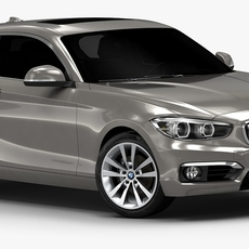 2016 BMW 1 Series 3-door (Low Interior) 3D Model