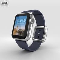 Apple Watch 38mm Stainless Steel Case Blue Modern Buckle 3D Model