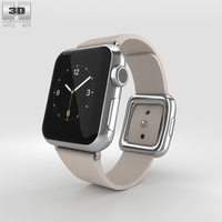 Apple Watch 38mm Stainless Steel Case Pink Modern Buckle 3D Model