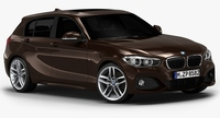 2016 BMW 1 Series 5-door (Low Interior) 3D Model