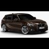 2016 BMW 1 Series 5-door (Low Interior) 3D Model