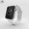 09 05 33 266 apple watch 42mm stainless steel case with white sport band 600 0001 4