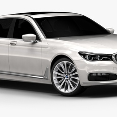 2016 BMW 7 Series (Low Interior) 3D Model