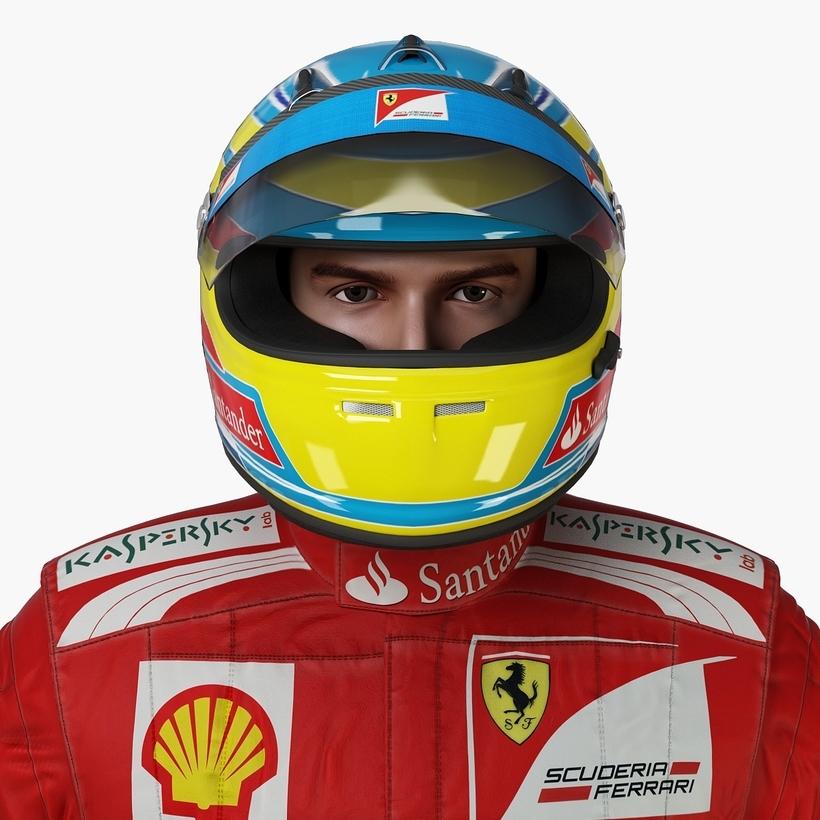 F1 Pilot (No Rig) 3D Model