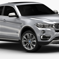 2015 BMW X6 (Low Interior) 3D Model