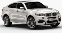 2015 BMW X6M (Low Interior) 3D Model